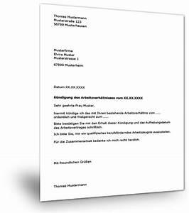 Untermietvertrag Kündigung Muster : muster k ndigung arbeitsvertrag ~ Frokenaadalensverden.com Haus und Dekorationen