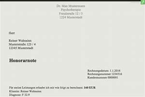 Reverse Charge Rechnung Muster : musterrechnung psychotherapeut kostenlose honorarnoten everbill magazin ~ Themetempest.com Abrechnung