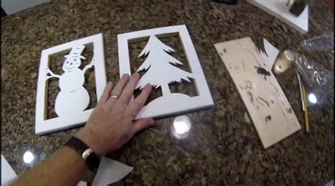 diy canvas silhouette christmas decorations
