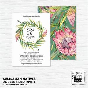 49 best decorating with protea images on pinterest With australian flowers wedding invitations