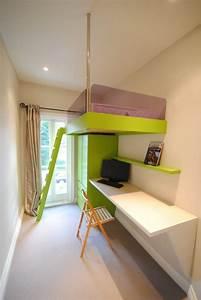 Jugendzimmer Platzsparend : 17 raumsparideen f r kleine kinderzimmer und jugendzimmer ~ Pilothousefishingboats.com Haus und Dekorationen