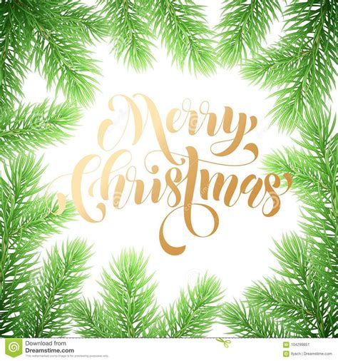 Merry Christmas Trendy Golden Quote Calligraphy On White