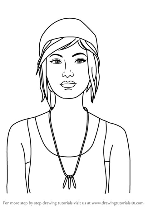 Step by Step How to Draw Chloe from Life is Strange