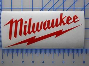 "Milwaukee Tools Logo Decal Sticker 7.5"" 10"" Sawzall Drill ..."