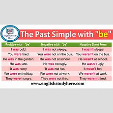 "The Past Simple With ""be""  English Study Here"