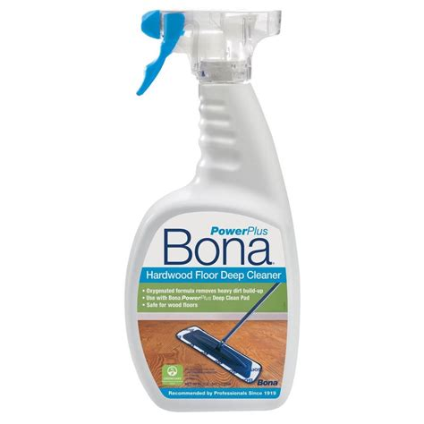 hardwood floors cleaner bona 32 oz powerplus deep clean hardwood floor cleaner wm850051001 the home depot