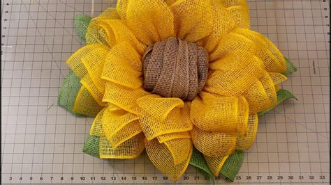 sunflower wreath tutorial julies wreath boutique youtube