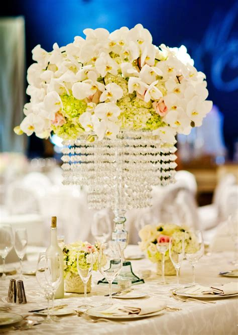 Tall Manzanita Branch Wedding Centerpiece With Hanging