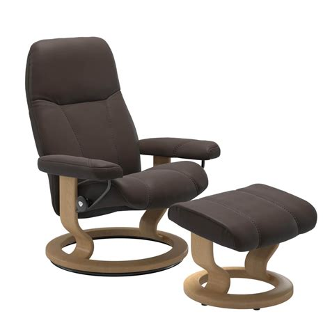 stressless consul  classic base leder batick brown mit