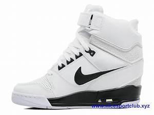 finest selection c6a2b 939f6 chaussures femme nike wmns air revolution sky hi blanc noir 637989 100 air  revolution sky