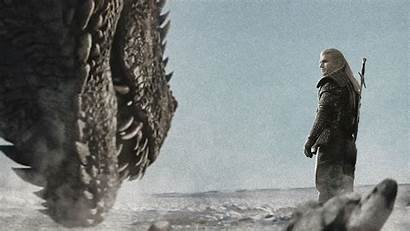 Geralt Rivia Wallpapers Drogon Vs Netflix Shows