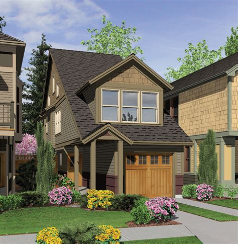 perfect home plan   narrow lot  architectural designs house plans
