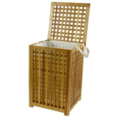 coffre 224 linge bambou maison fut 233 e