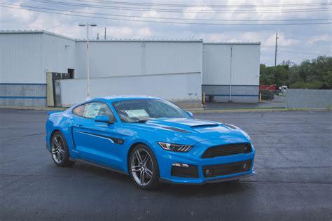 Roush Shows Off Pair Of Grabber Blue Mustangs