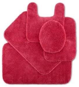 impressions bath rug hot pink traditional bath mats