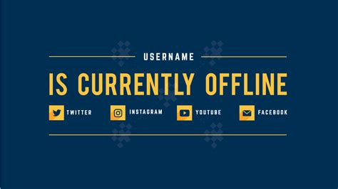 Twitch Offline Banner Template Size by Augment Strelay Graphics