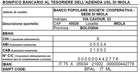 Nazionale Lavoro Spa Sede Legale by Azienda Usl Imola Donazioni Sede Legale E Iban