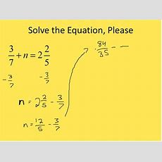 Solving Fraction Equations (simplifying Math) Youtube