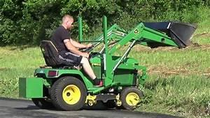 John Deere 455 Diesel Tractor With Loader And Mower