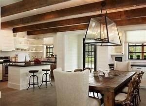 Decoration cuisine campagne accueillante et chaleureuse for Deco cuisine avec salle a manger moderne bois clair