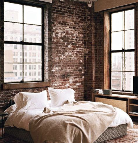 Loft Bedroom Feature Wall by 57 Spectacular Interiors With Exposed Brick Walls Pbg