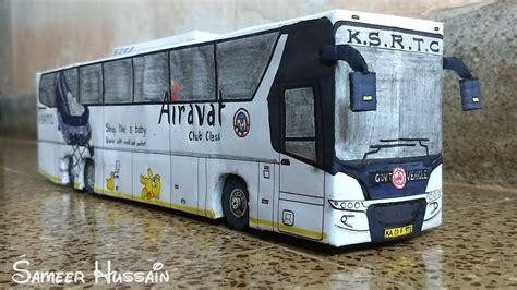 ksrtc airavat club class scania miniature paper model bus paper model scania bus cardboard