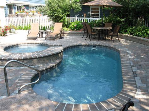 fiberglass pool designs shasta spillover spa tub viking fiberglass pools