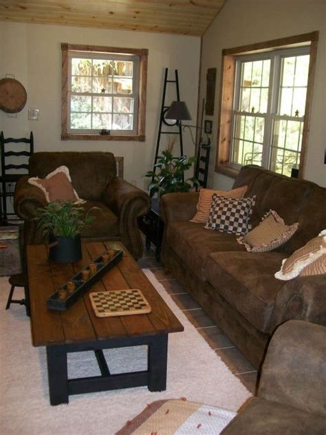 primitive country and folk art living room designs