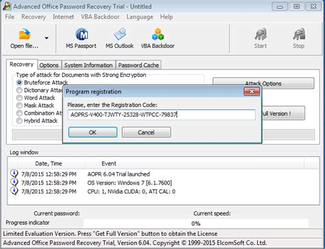 Office key password recovery free download