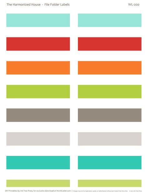 9 Best Images Of File Folder Labels Printables Free