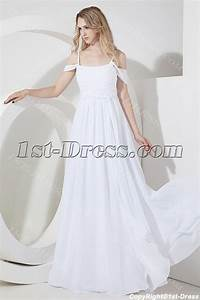 White off shoulder beach wedding dress for plus size1st for Off white plus size wedding dresses