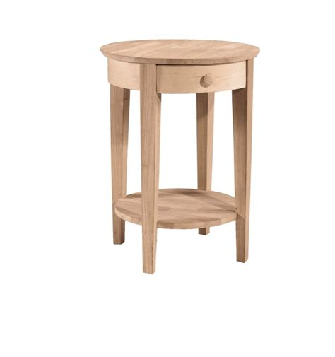 bedside table l height 21 inch phillips round bedside table bare wood fine