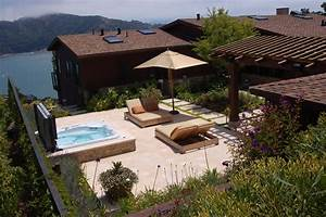 built-in-hot-tubs-Patio-Mediterranean-with-hot-tub