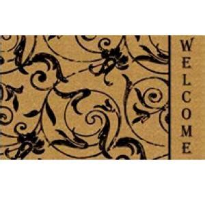Maybe you would like to learn more about one of these? TrafficMASTER Side Welcome Fleur 18 in. x 30 in. Coir Mat-HGH-41629 - The Home Depot