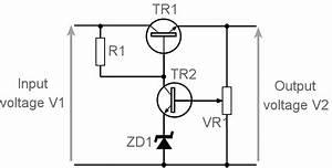 series voltage regulator series pass electronics notes With mosfet regulator circuit