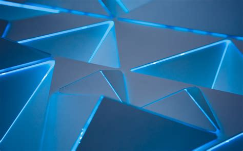 3d Wallpapers Blue by 3d Blue Triangles Wallpapers Hd Wallpapers Id 24665