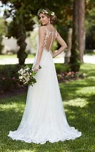 illusion lace french tulle wedding dress stella york With stella wedding dress