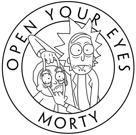 rick  morty open  eyes tv shows adult coloring