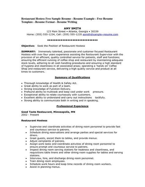 Objective For Restaurant Resume by Restaurant Resume Objective Berathen
