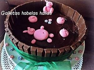 Galletas Habelas Hailas  Tarta  U0026quot Cerditos En El Barro U0026quot