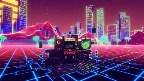 Retro Neon Wallpaper Pc by New Retro Arcade Neon Pc Review Impulse Gamer