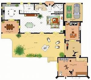 bastide provencale detail du plan de bastide provencale With faire un plan de maison 1 pavillon classique detail du plan de pavillon classique