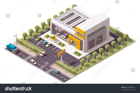 Vector Isometric Icon Or Infographic… Stock Photo