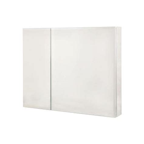 home depot medicine cabinet with mirror pegasus 30 in x 26 in recessed or surface mount medicine