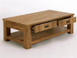 Table En Teck Massif : table basse glenmore en teck massif naturel pour salon massivum ~ Teatrodelosmanantiales.com Idées de Décoration