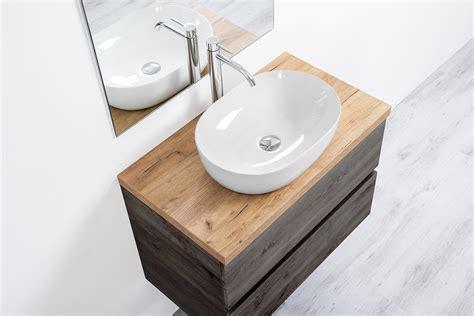 specchio bagno con mensola e mobile bagno sospeso per lavabo d appoggio 100 cm con