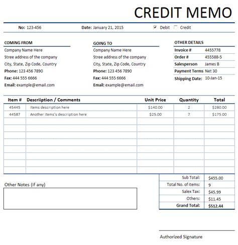 credit memo template credit memorandum memo invoice sales invoices invoice templates