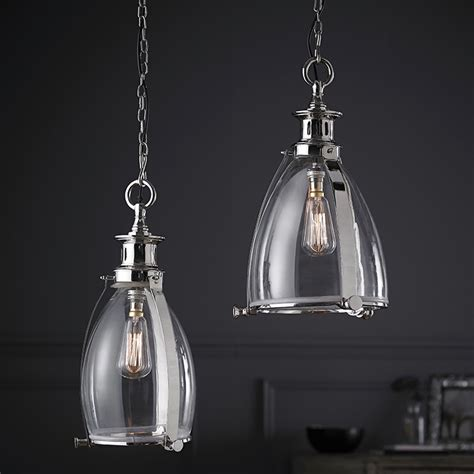 storni large clear glass and chrome ceiling pendant light