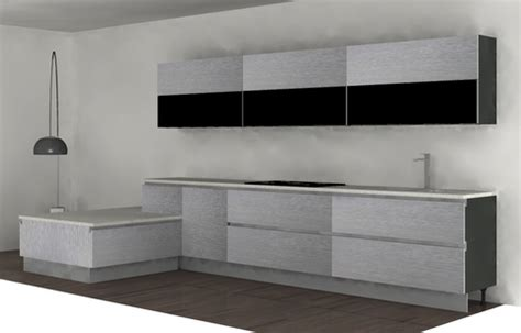 Brand New Pedini Integra Luxury Silver Oak & Glass Kitchen