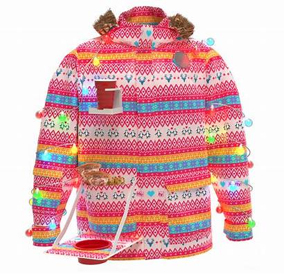 Hefty Parka Party Cup Koozie Ugly Mitten